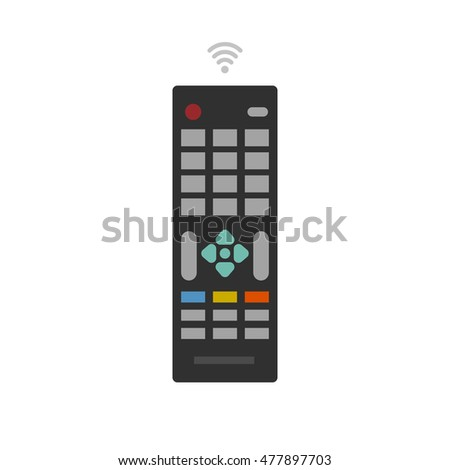 Remote control from TV device vector icon isolated on white
