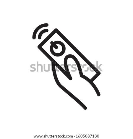 remote control icon, editable stroke Stock photo ©