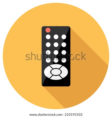 Remote control icon. Flat design style modern vector illustration. Isolated on stylish color background. Flat long shadow icon. Elements in flat design.