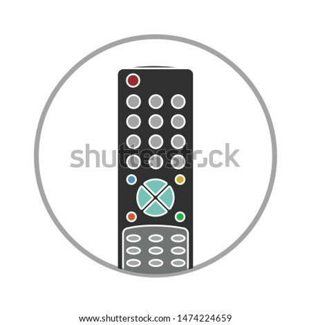 remote control icon. flat illustration of remote control vector icon. remote control sign symbol
