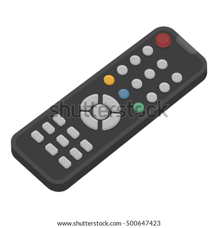 Remote control icon in cartoon style isolated on white background. Films and cinema symbol stock vector illustration.