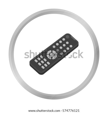 Remote control icon in monochrome style isolated on white background. Films and cinema symbol stock vector illustration.