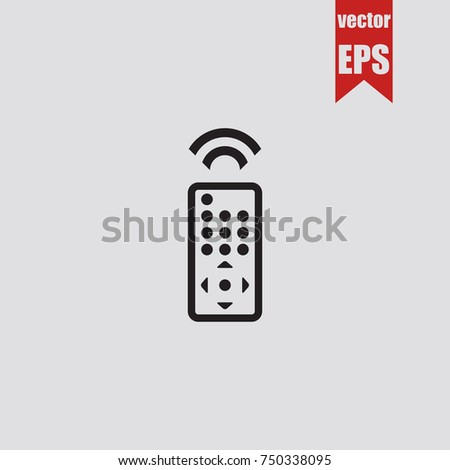 Remote control icon in trendy isolated on grey background.Vector illustration.