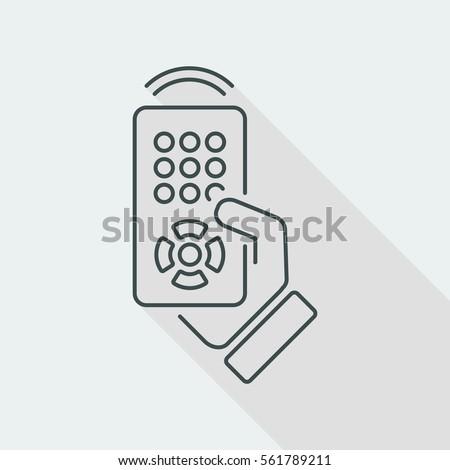 Remote control icon - Thin series