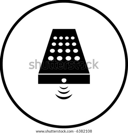 stock vector : remote control symbol