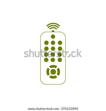 remote control - vector icon