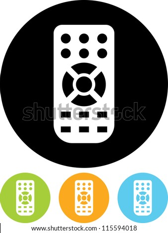 Remote control - Vector icon isolated - stock vector