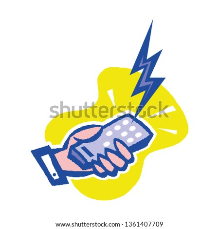 Remote control vector, icon, symbol. Vector illustration. Vector illustration isolated on white background. #1361407709