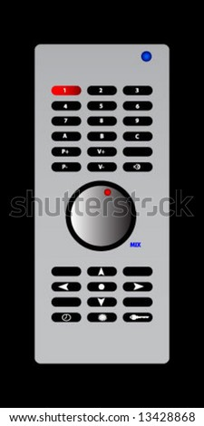 remote controller isolated on the black background - stock vector
