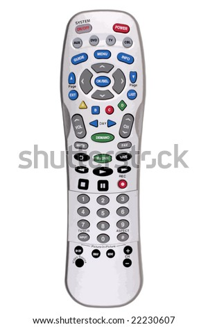 Remote TV Control. Isolated. VECTOR