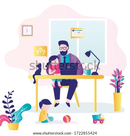 remote work businessman at