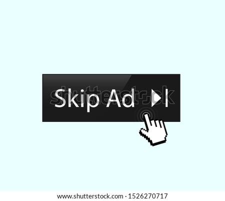 Remove ads. Skip ad button vector illustration.