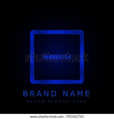 Remove blue chromium metallic logo
