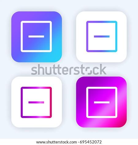 Remove bright purple and blue gradient app icon