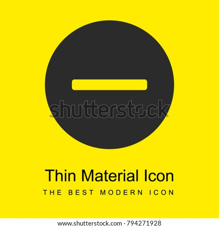 Remove bright yellow material minimal icon or logo design