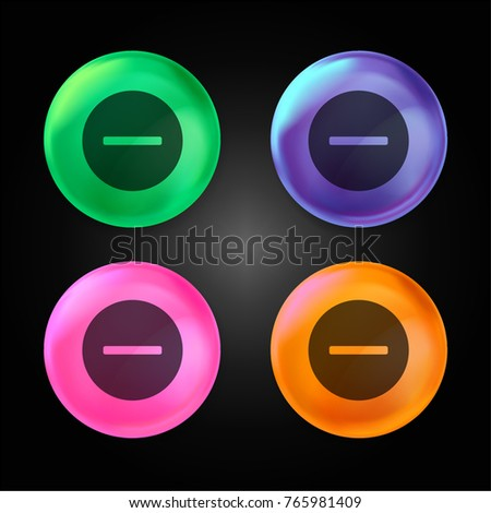 Remove crystal ball design icon in green - blue - pink and orange.
