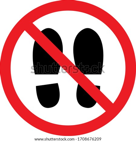 remove footwear warning sign