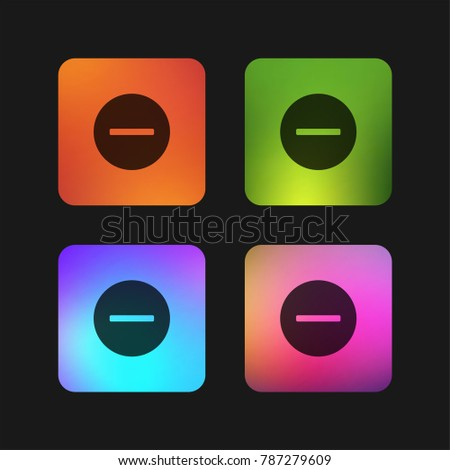 Remove four color gradient app icon design