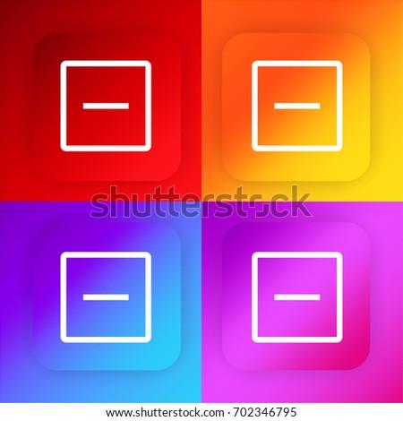 Remove four color gradient app icon set