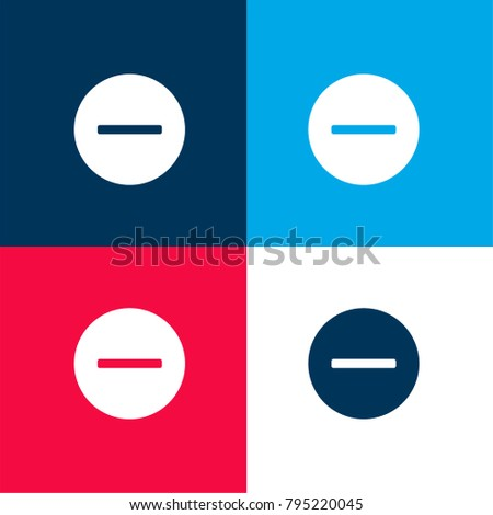 Remove four color material and minimal icon logo set in red and blue