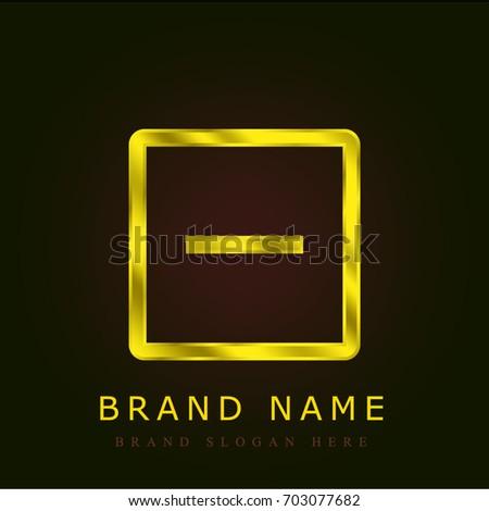Remove golden metallic logo
