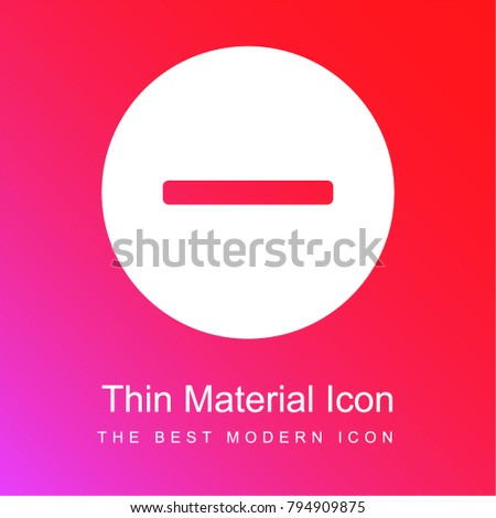 Remove red and pink gradient material white icon minimal design