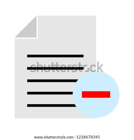 remove Text file sign icon. File document symbol.