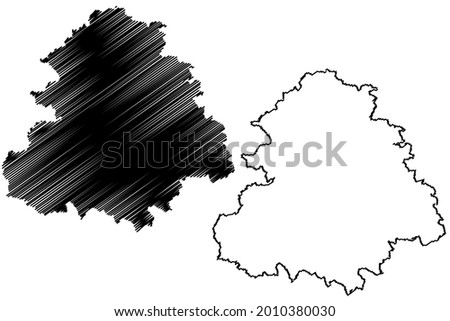 Rems Murr district (Federal Republic of Germany, rural district, Baden-Wurttemberg State) map vector illustration, scribble sketch Rems-Murr-Kreis map Stock foto ©