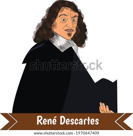 René Descartes was a French-born philosopher, mathematician, and scientist . Foto stock ©
