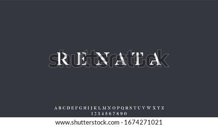 renata. the luxury elegant royal font alphabet vector set