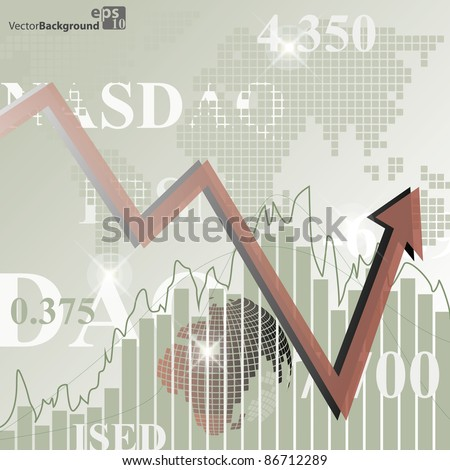 Render stock market graph