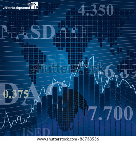Render stock market graph
