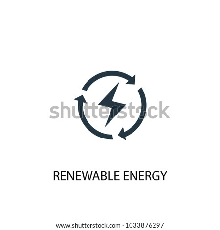 Renewable energy icon. Simple element illustration. Renewable energy symbol design from Alternative energy collection. Can be used for web and mobile.