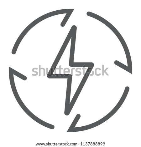 Renewable Energy line icon, ecology and energy, electricity sign, vector graphics, a linear pattern on a white background, eps 10.