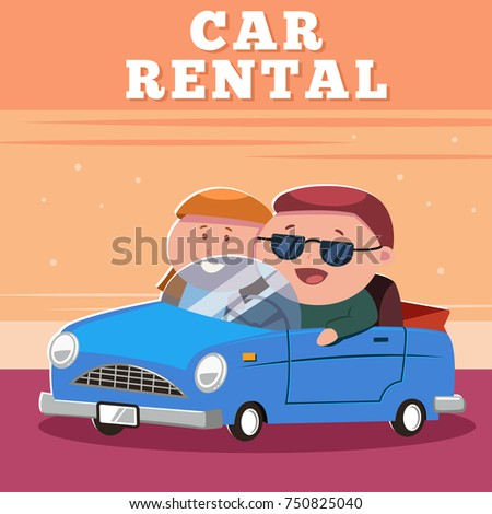 rent a car poster design