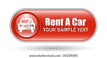 Rent Car Sign Icon with Space for Text