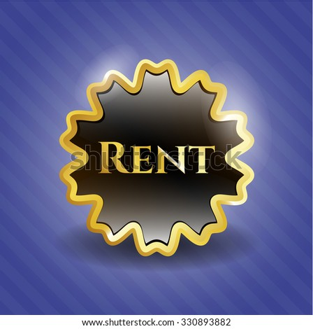 Rent gold shiny emblem