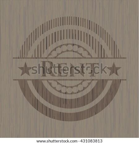 Rent retro wooden emblem