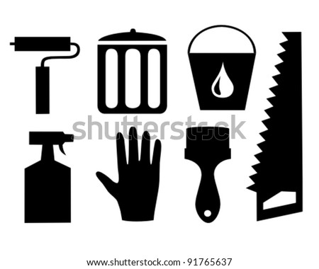 Repair and cleaning vector icon set