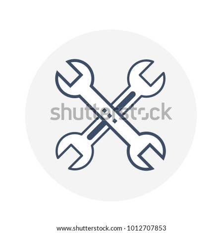 Repair Icon tools for configuration settings, maintenance service, construction, under maintenance, under construction and builder illustration concept