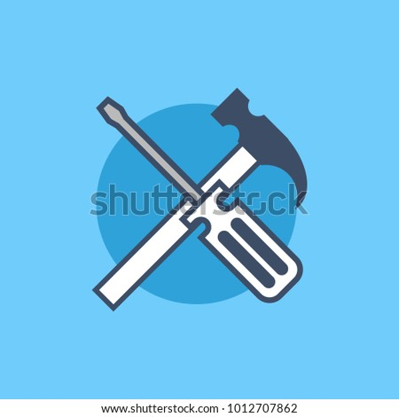 Repair Icon tools for configuration settings, maintenance service, construction, under maintenance, under construction & builder illustration concept