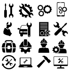 Repair icon vector set. tool illustration sign collection. Service center symbol.