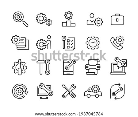 Repair Icons - Vector Line Icons. Editable Stroke. Vector Graphic Photo stock ©