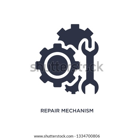 repair mechanism icon. Simple element illustration from mechanicons concept. repair mechanism editable symbol design on white background. Can be use for web and mobile.