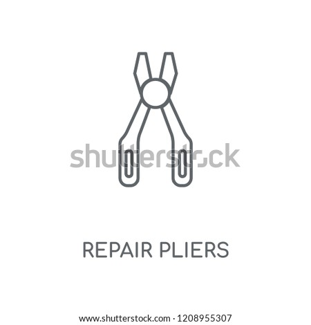 Repair Pliers linear icon. Repair Pliers concept stroke symbol design. Thin graphic elements vector illustration, outline pattern on a white background, eps 10.