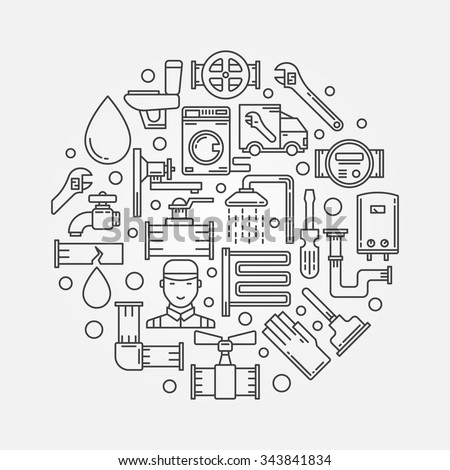 Vector Images Illustrations And Cliparts Repair Plumbing