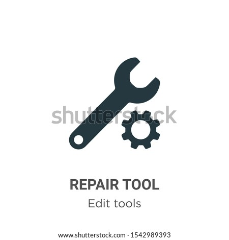 Repair tool vector icon on white background. Flat vector repair tool icon symbol sign from modern edit tools collection for mobile concept and web apps design.