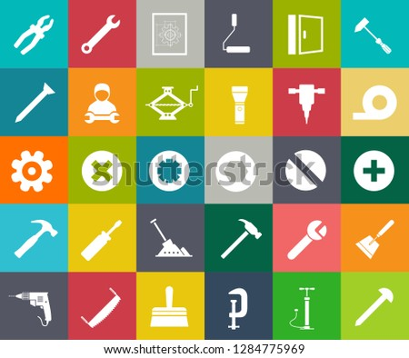 repair tools icons set - maintenance sign and symbols