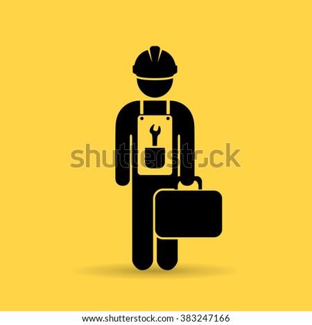 Repairman vector icon