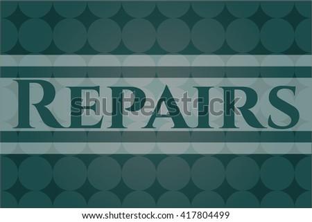 Repairs card, colorful, nice design